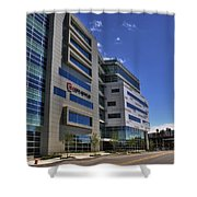 02 Conventus Medical Building On Main Street Shower Curtain