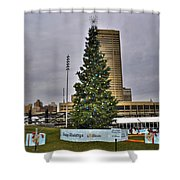02 Happy Holidays From First Niagara Shower Curtain