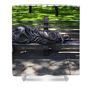 02 Homeless Jesus By Timothy P Schmalz Shower Curtain