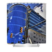 02 W Chipp And Delaware Construction  Shower Curtain