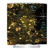 02 Xmas Trees At Canalside And Seneca One Tower Dec2015 Shower Curtain