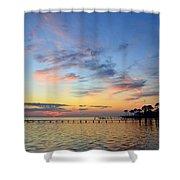 0201 Sunset Wisps On Sound Shower Curtain