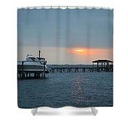 0204 Faint Sunrise On Sound Shower Curtain