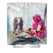 024 Sindh Shower Curtain