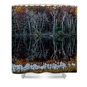 02l Reflections At  Gowen Michigan Shower Curtain