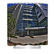 03 Conventus Medical Building On Main Street Shower Curtain
