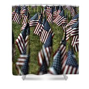 03 Flags For Fallen Soldiers Of Sep 11 Shower Curtain