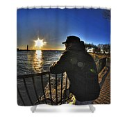 03 Me Sunset 16mar16 Shower Curtain