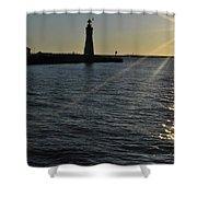 03 Sunset 16mar16 Shower Curtain