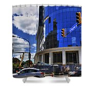 03 W Chipp And Delaware Construction  Shower Curtain