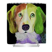 0356 Dog By Nixo Shower Curtain