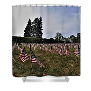 04 Flags For Fallen Soldiers Of Sep 11 Shower Curtain