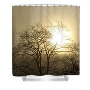 04 Foggy Sunday Sunrise Shower Curtain