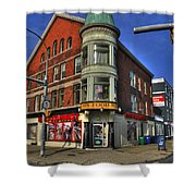 04 Main Food Market Early Morning Shower Curtain