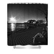 04 Me Sunset 16mar16 Bw Shower Curtain