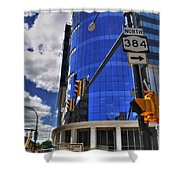 04 W Chipp And Delaware Construction  Shower Curtain