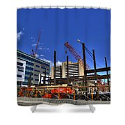 05 Medical Building Construction On Main Street Shower Curtain