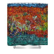 057 Abstract Thought Shower Curtain