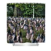 06 Flags For Fallen Soldiers Of Sep 11 Shower Curtain
