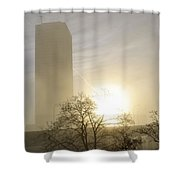 06 Foggy Sunday Sunrise Shower Curtain