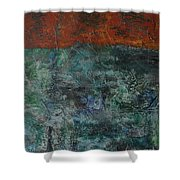 068 Abstract Thought Shower Curtain