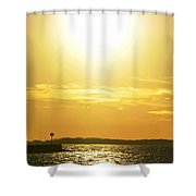 07 Sunset 16mar16 Shower Curtain