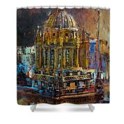 071 Famous Building Top In Chicago Illinois Shower Curtain