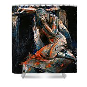 073 Weeping Lady F.w. Blanchard Grave Monument- Hollywood Forever Cemetery Shower Curtain