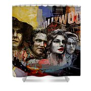 074 Hollywood Wax Museum Shower Curtain
