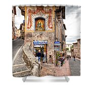 0755 Assisi Italy Shower Curtain