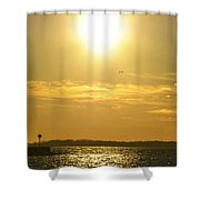 08 Sunset 16mar16 Shower Curtain