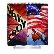 085 Four Skyscrapers B Shower Curtain