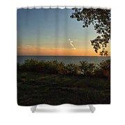0874- Lake Michigan Sunset Shower Curtain