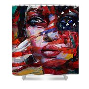 089 Flag And Eyes Shower Curtain