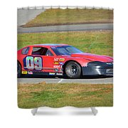 09 On Pit Lane Shower Curtain