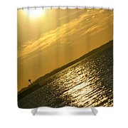 09 Sunset 16mar16 Shower Curtain