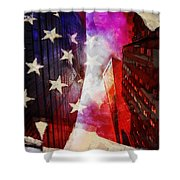 090 Look Up New York Shower Curtain