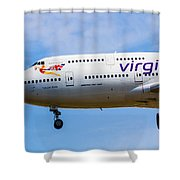 A Virgin Atlantic Boeing 747 Shower Curtain