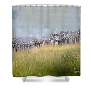 Gettysburg Confederate Infantry 7503c Shower Curtain