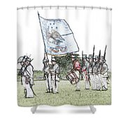 1812 Soldiers Shower Curtain