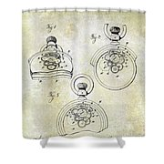 1893 Pocket Watch Patent Shower Curtain