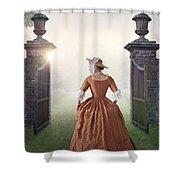 18th Century Georgian Woman  Shower Curtain