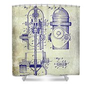 1903 Fire Hydrant Patent Shower Curtain