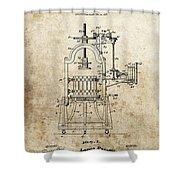 1903 Wine Press Patent Shower Curtain
