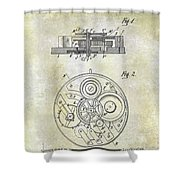 1908 Pocket Watch Patent  Shower Curtain