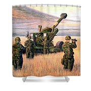 1-190th Artillery Shower Curtain by Scott Robertson