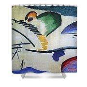 1911 Vasily Kandinsky Shower Curtain