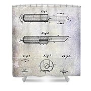 1920 Paring Knife Patent Shower Curtain