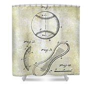 1924 Baseball Patent Shower Curtain