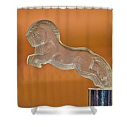 1925 Citroen Cloverleaf Hood Ornament 2 Shower Curtain